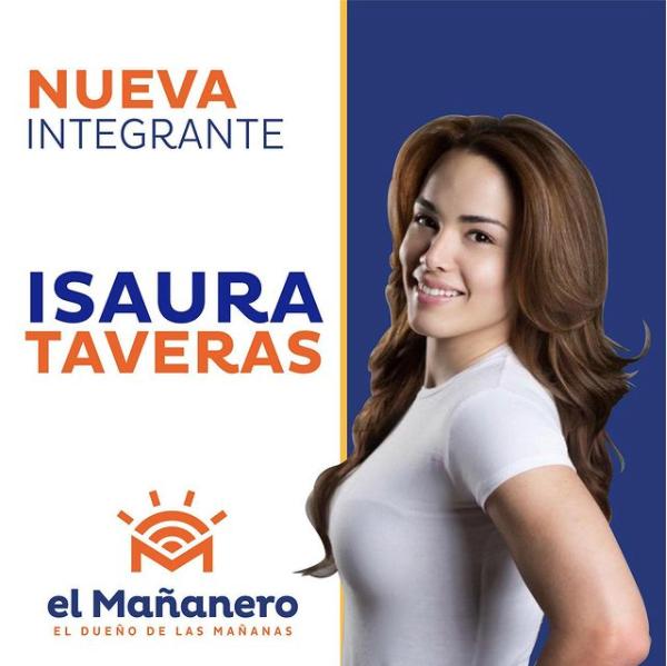 Isaura Taveras ingresa al elenco de El Mañanero desde este lunes